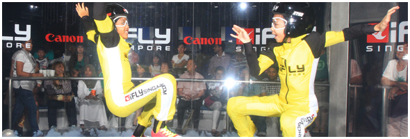 skydiving girls at iFly Singapore